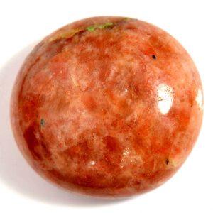 """סאנסטון (אבן שמש) מלוטש איכותי לשיבוץ 315 קרט קוטר: 46.95 מ""""מ"""
