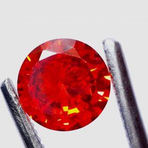 """זירקון טבעי אדום עיצוב עגול 5.50 קרט קוטר: 9 מ""""מ עומק: 5 מ""""מ"""