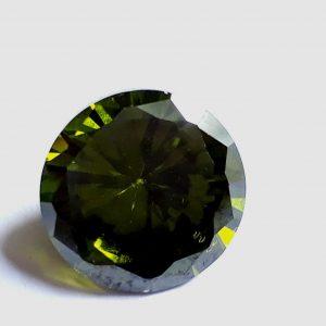 """זירקון טבעי ירוק ליטוש עגול (קמבודיה) 5.50 קרט קוטר: 9 מ""""מ עומק: 5 מ""""מ"""