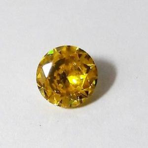"""זירקון טבעי צהוב ליטוש עגול 5.50 קרט קוטר: 9 מ""""מ עומק: 5 מ""""מ"""