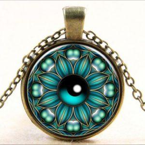 תליון ושרשרת ברונזה סמל עין (הגנה מעין הרע)