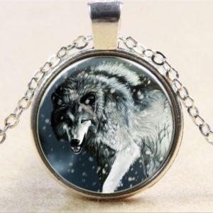 תליון ושרשרת מוכסף ויקה סמל זאב