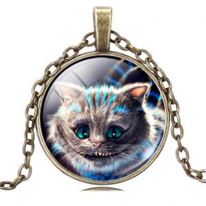תליון ושרשרת ברונזה חתול... מלווה המכשפה