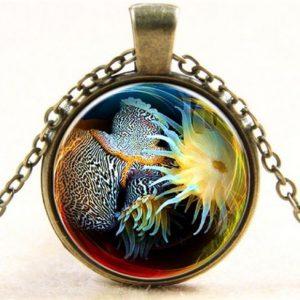 תליון ושרשרת ברונזה שונית אלמוגים (חיים בהרמוניה ושלמות)
