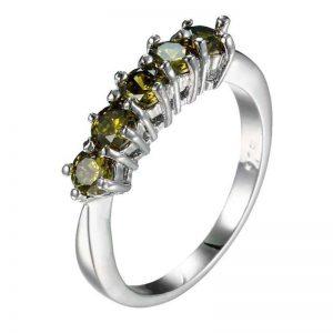 טבעת כסף 925 בשיבוץ אבני פרידות מידה: 6