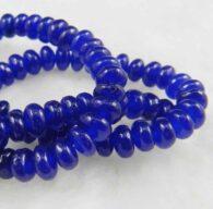 """שרשרת מאבני ג'ייד כחול מידה: 4*6 מ""""מ"""