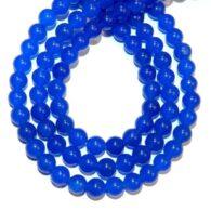 """שרשרת אבני אגט כחול מידה: 6 מ""""מ"""