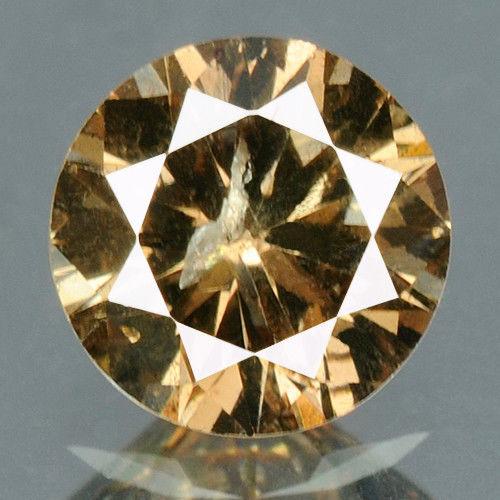 יהלום צהוב חום פנסי 0.22 קרט - תעודה ניקיון יהלום: I1