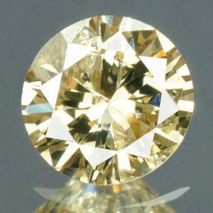 יהלום צהוב פנסי 0.21 קרט - תעודה ניקיון : I2