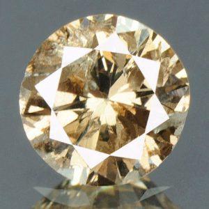 יהלום צהוב פנסי 0.31 קרט - תעודה ניקיון יהלום: I2