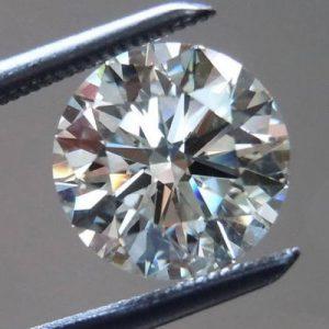 יהלום לבן עגול אפריקה - תעודה משקל: 0.072 קרט ניקיון: SI1-SI2