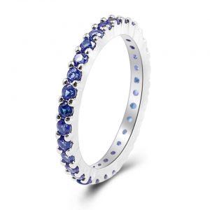 טבעת בשיבוץ ספיר כחול מידה: 8