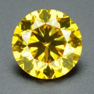 יהלום צהוב - תעודה משקל: 0.073 קרט ניקיון יהלום: SI1-SI2