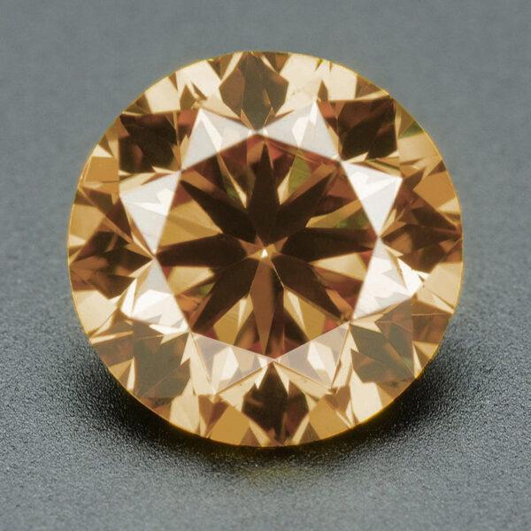 יהלום שמפניה אפריקה - תעודה משקל: 0.093 קרט ניקיון יהלום: SI1-SI2