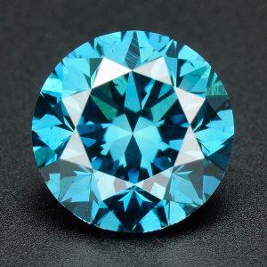 יהלום כחול עגול אפריקה - תעודה משקל: 0.041 קרט ניקיון: SI3-I1