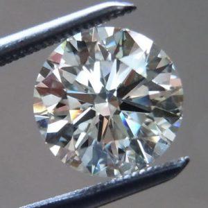 יהלום לבן עגול אפריקה - תעודה משקל: 0.052 קרט