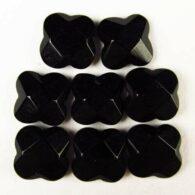 """אגט שחור מלוטש לשיבוץ רוז פאסט מידה: 4*9 מ""""מ"""
