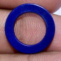 תכשיטנות: חישוק מאבן אגט כחול לתליון או עגילים