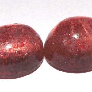 זוג קוורץ תות מלוטש לשיבוץ ליטוש קבושון (אפריקה) משקל: 11.40 קרט