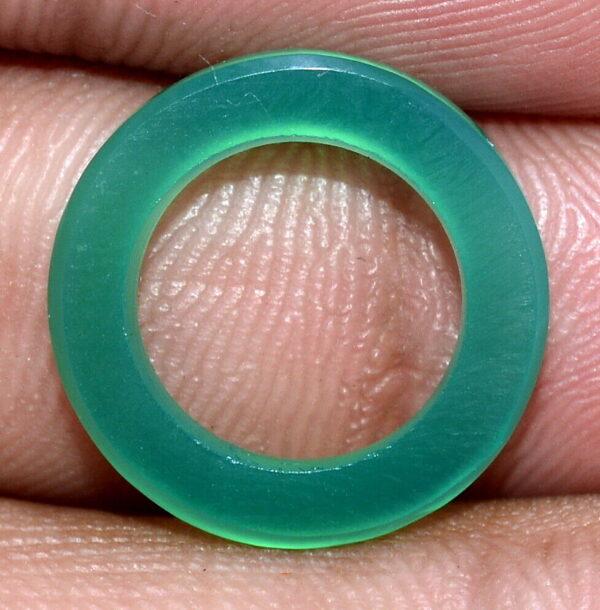 תכשיטנות: חישוק מאבן אגט ירוק לתליון או עגילים