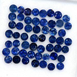 """ספיר כחול מלוטש לשיבוץ סרילנקה 9 יחידות מידה: 2.5 מ""""מ"""