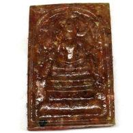 רובי (אפריקה) מפוסל בתבנית עיצוב בודהה משקל: 56.54 קרט