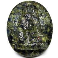 ספיר ירוק כחול אפריקה מפוסל בתבנית עיצוב: המלכה יין משקל: 37.78 קרט