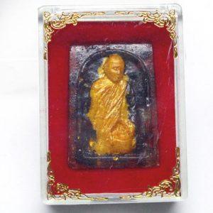 ספיר כחול מפוסל עבודת יד (אפריקה) בודהה + קופסה מהודרת משקל: 45.85 קרט