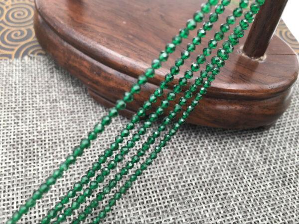 """תכשיטנות: שרשרת אוניקס ירוק מלוטש ליטוש פאסט מידה: 2 מ""""מ"""