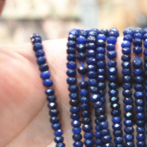 """תכשיטנות: שרשרת ספיר כחול כהה מידה: 2*4 מ""""מ"""