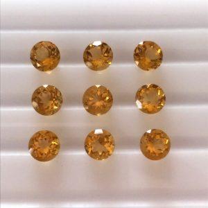 """9 יחידות סיטרין מלוטש לשיבוץ עגול ליטוש יהלום 3.5 מ""""מ"""