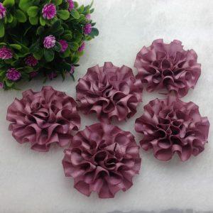 3 פרחים לקישוט אריזה גוון סגלגל