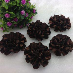 3 פרחים לקישוט אריזה גוון חום