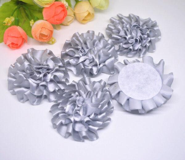 3 פרחים לקישוט אריזה גוון אפור