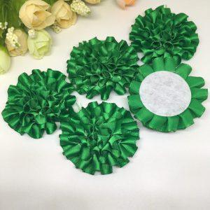 3 פרחים לקישוט אריזה גוון ירוק