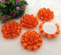 3 פרחים לקישוט אריזה גוון כתום