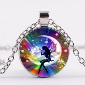 תליון ושרשרת מוכסף פיית האור בשלל צבעי הקשת להגשמת משאלות הלב