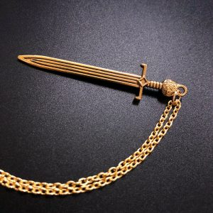 תליון ושרשרת מוזהב סכין ויקה להגנה ולעבודת כישופים