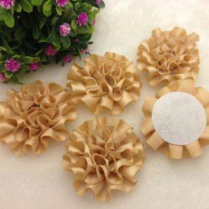 3 פרחים לקישוט אריזה גוון זהוב