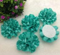 3 פרחים לקישוט אריזה גוון ירוק טורקיז