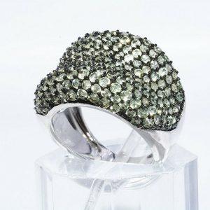 טבעת יוקרה כסף 925 בשיבוץ 188 פרידות 6.01 קרט מידה: 6.25