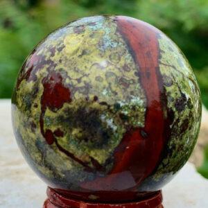 """כדור בלדסטון ומעמד עץ מסוגנן משקל: 131 גרם קוטר: 33 מ""""מ"""