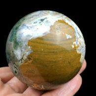 """כדור ג'ספר אוושן ומעמד עץ מסוגנן משקל: 233.5 גרם קוטר: 53 מ""""מ"""