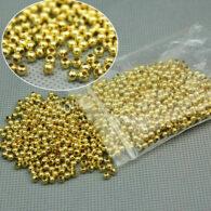 תכשיטנות: חרוזי זהב צהוב 180 יחידות