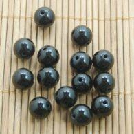"""אגט שחור 10 יחידות מידה: 10 מ""""מ"""