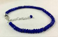 """צמיד ספיר כחול ליטוש פאסט מידה: 2*4 מ""""מ"""